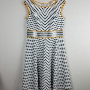 London Times Chevron Fit & Flair Summer Dress